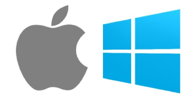 mac vs PC apple vs windows icon 640