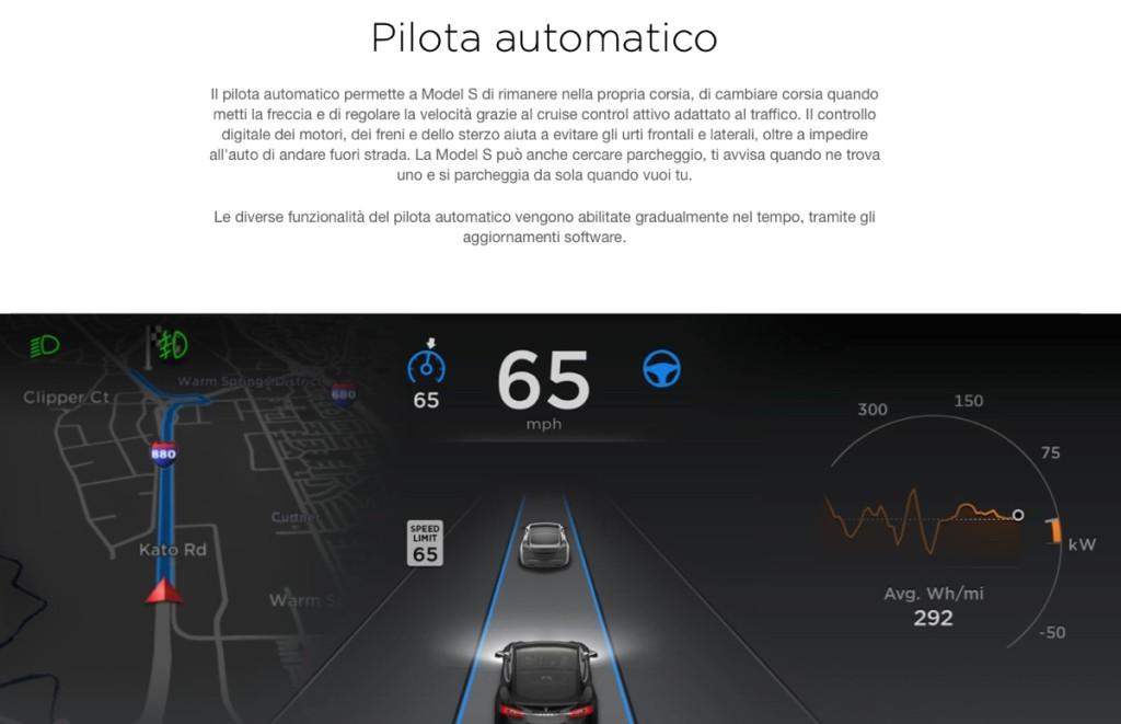 pilota automatico Tesla 3
