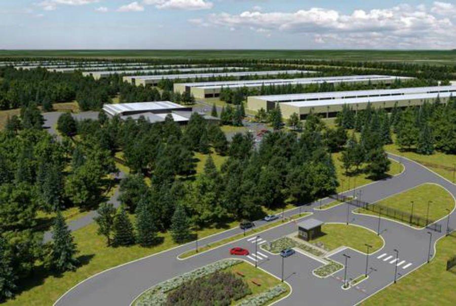 Rendering del futuro data center irlandese