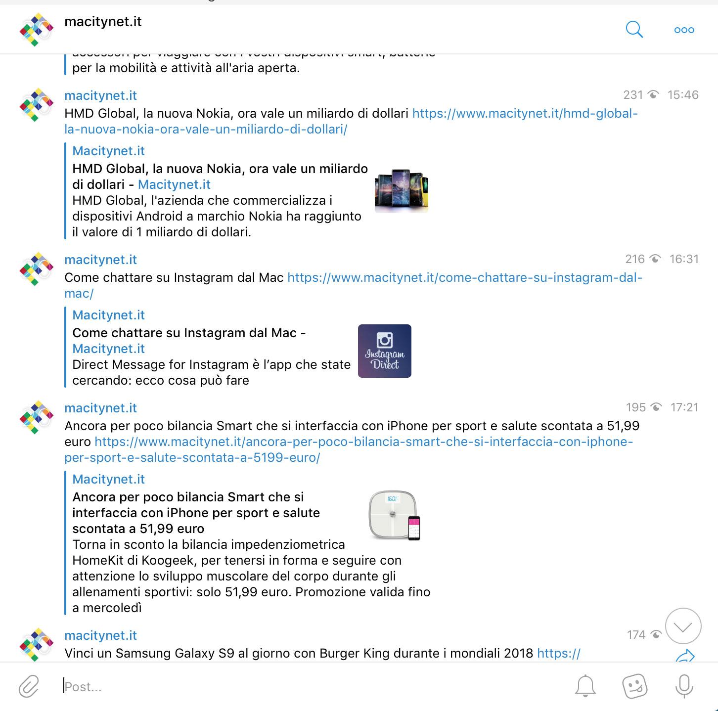 Non vi perdete più una notizia di Macitynet: iscrivetevi al nostro Bot Telegram