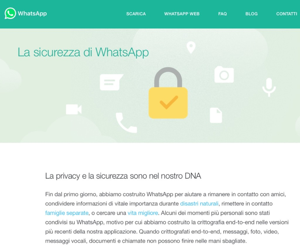 whatsapp blindato