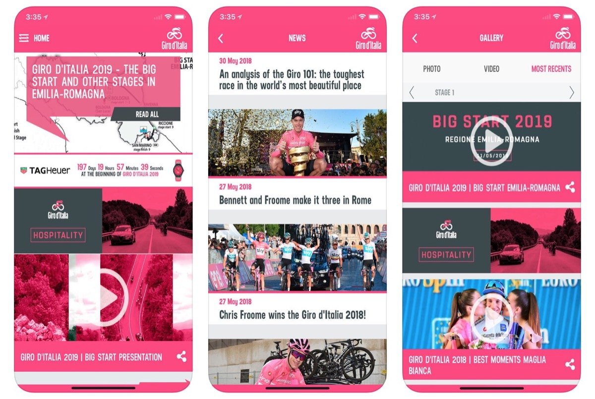Giro d'Italia, l'app ufficiale per seguire la 99 esima edizione del Giro d'Italia