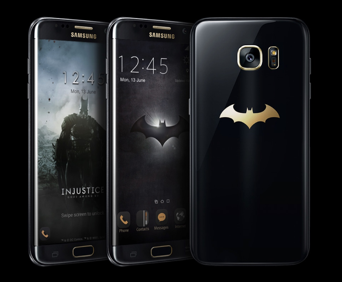 galaxy s7 edge injustice edition svelato lo smartphone di batman il video. Black Bedroom Furniture Sets. Home Design Ideas