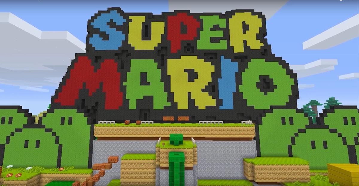 Super Mario in Minecraft 1