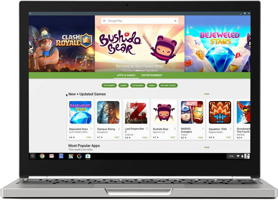 app Android Chrome OS