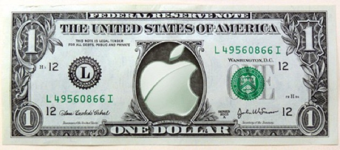 apple logo dollar 700