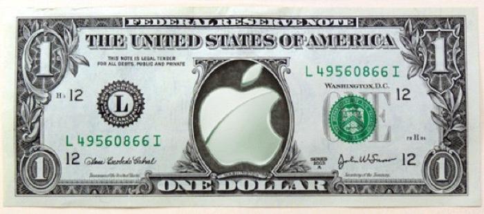 apple logo dollar 700