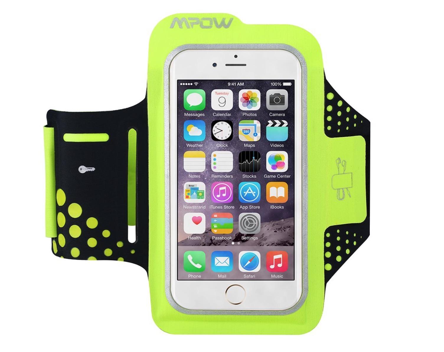 Fascia da braccio color fluo per iphone 6 6s con clip - Porta ipod da braccio ...