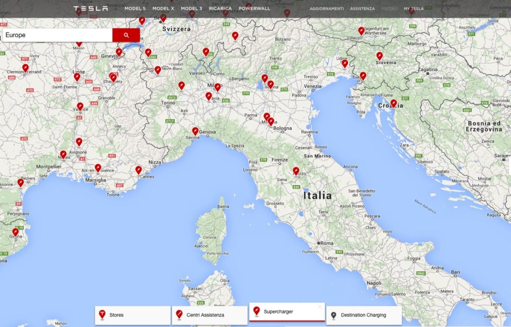 ricarica tesla italia 12mag16