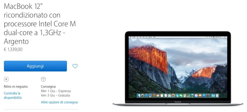 ricondizionati macbook 12 1339