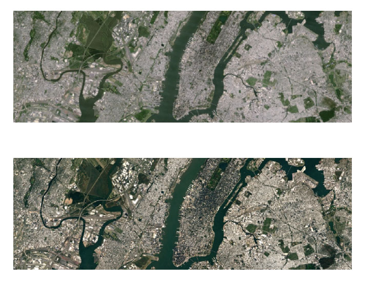 Google Earth e Maps Prima e dopo