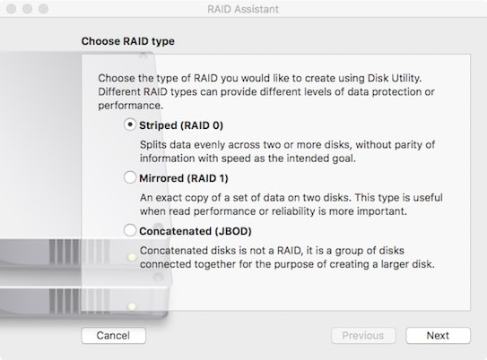 Utility assistente RAID