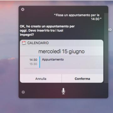 Abbiamo chiesto a Siri di creare un appuntamento