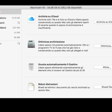 Alcune opzioni ricordano all'utente di eliminare gli installer delle app, cancellare i duplicati di download, cache, log e altro.