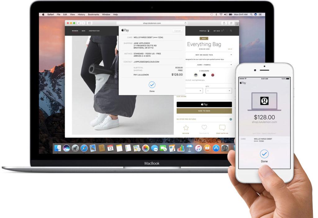 Apple Pay su macOS Sierra