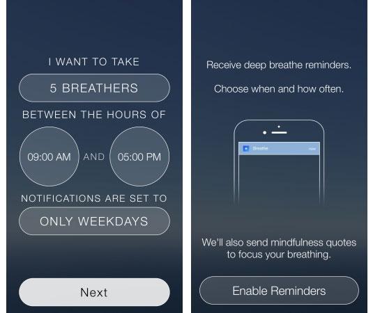 L'app Breathe di Ben Erez