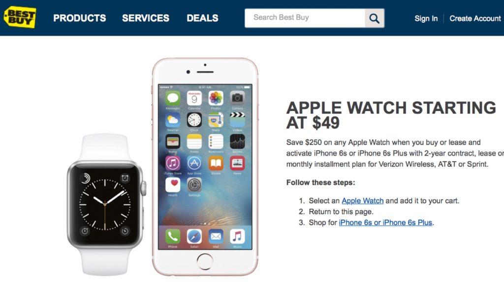apple watch 2 apple watch best buy 49 dolllari
