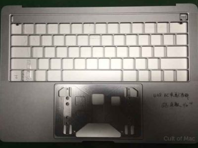 Il presunto chassis per un nuovo MacBook Pro apparso in una foto online negi scorsi giorni