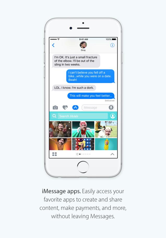 messaggi app ios 10