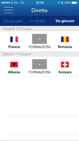 streaming Italia Svezia app RAI 2