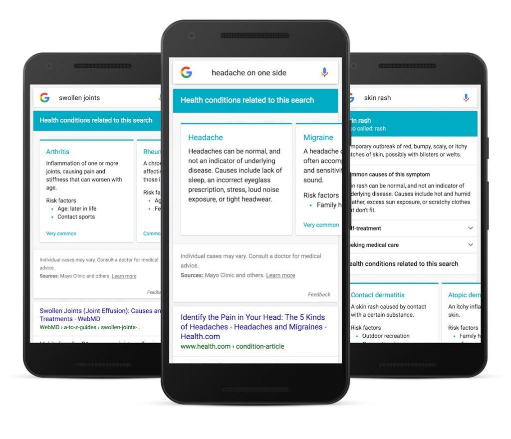 """Google mostrerà """"diagnosi"""" mediche per le ricerche su sintomi di un malessere"""