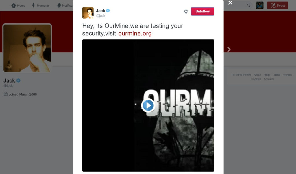account twitter jack dorsey hackerato