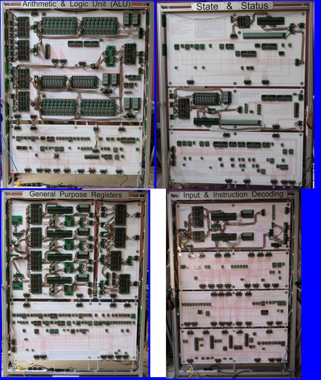 Megaprocessor, mezza tonnellata di processore costruito in casa