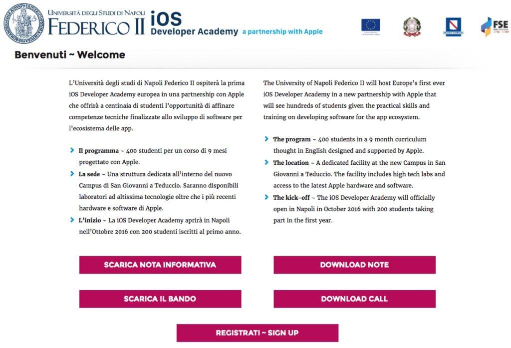 ios developer academy Federico II