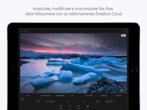 Lightroom iOS RAW