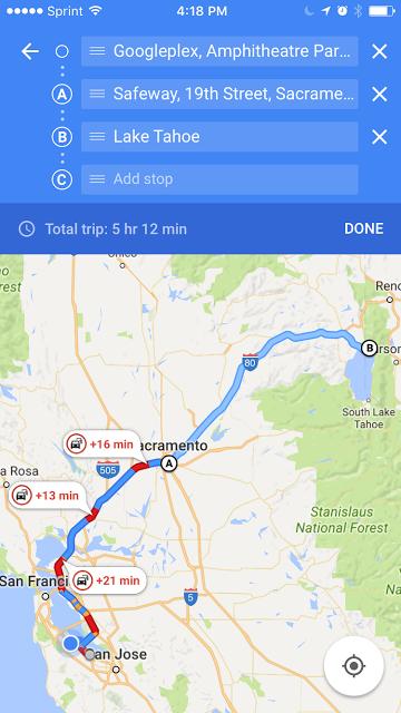 tappe multiple su Google Maps