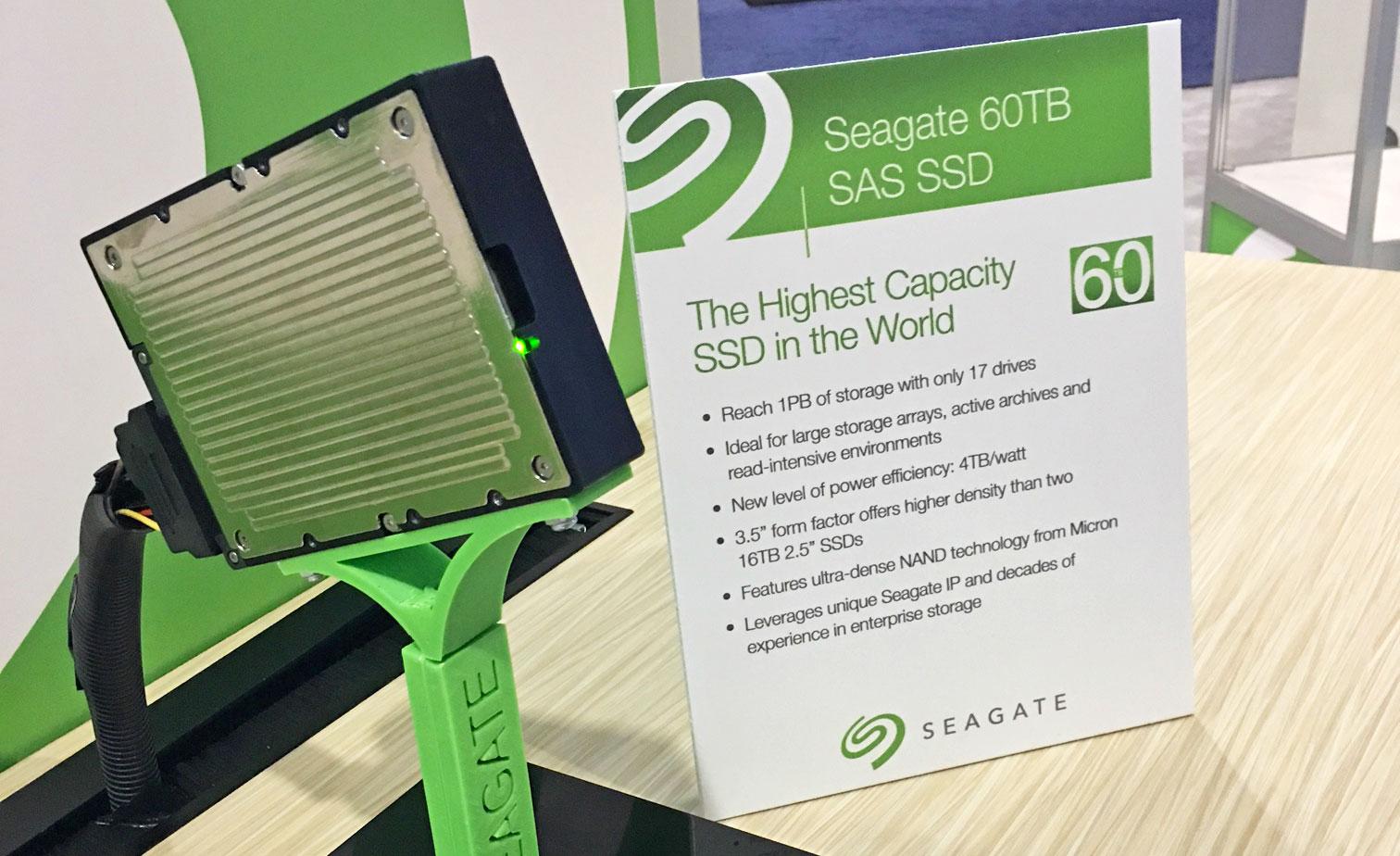60 terabyte SSD Seagate