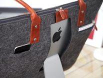 """iMac 27"""" in spalla tra casa e ufficio con la borsa di Lavolta"""