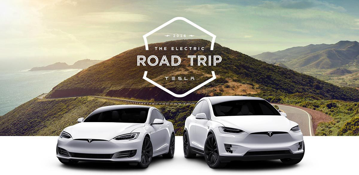 Tesla Electric Road Trip 1200 2