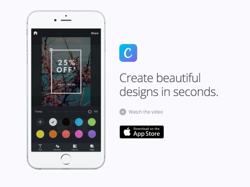 Canva l 39 app per grafica e design arriva anche su iphone e for App per design