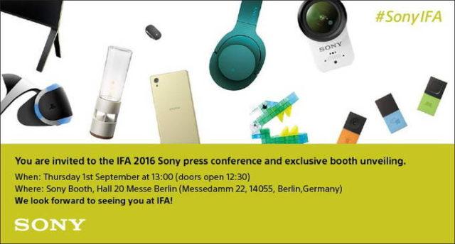 invito sony IFA 2016