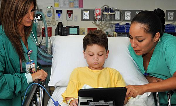 ipad calma i bambini ospedale