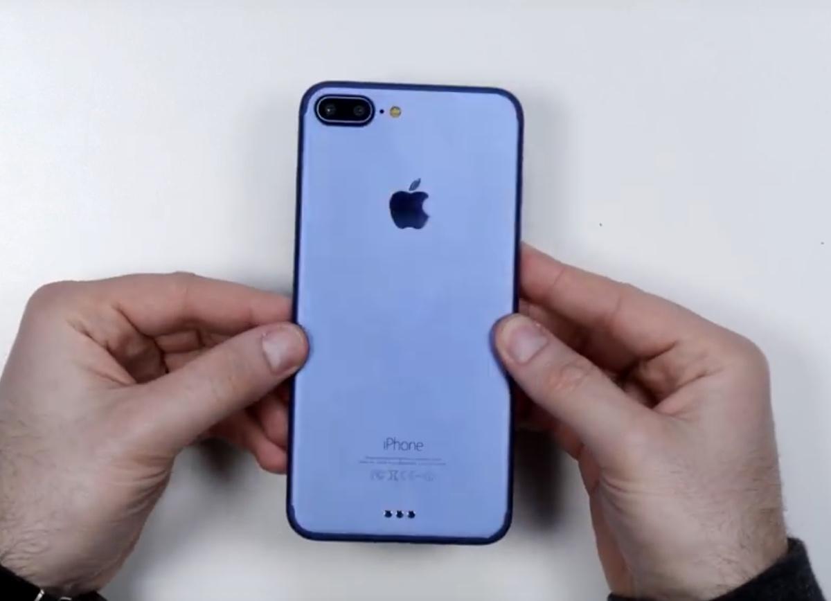 iphone 7 Plus blu mockup 1200