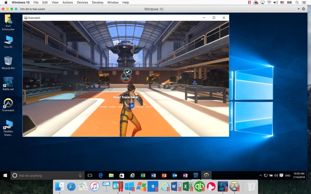 overwatch su mac Parallels Desktop 12