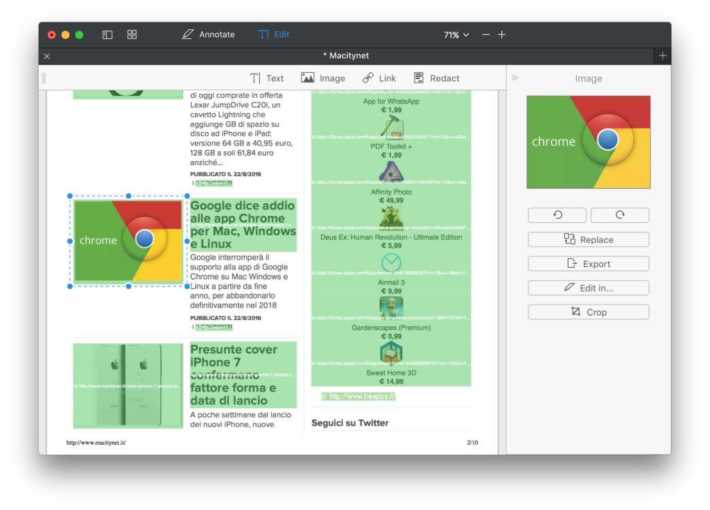 PDF Expert 2 per Mac, nuova versione in italiano con editor