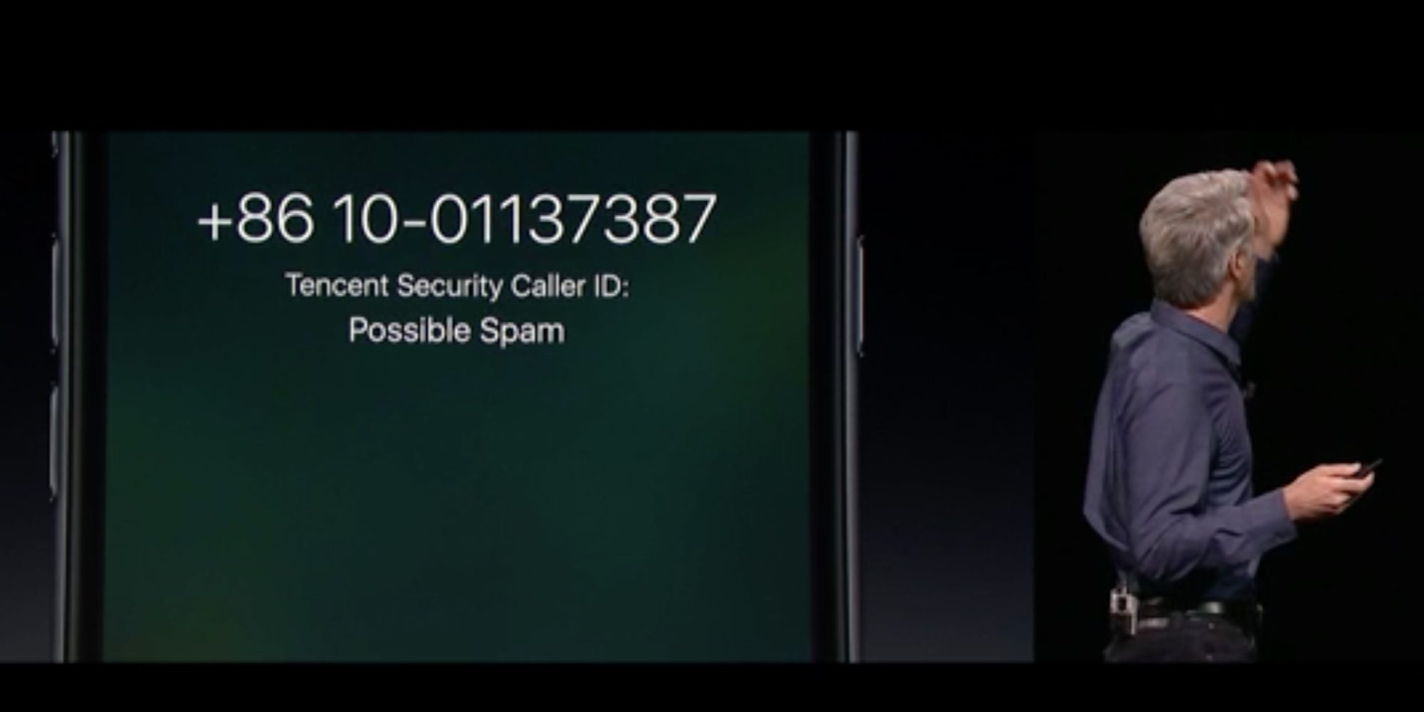spam telefonico robocall ios 10 craig federighi