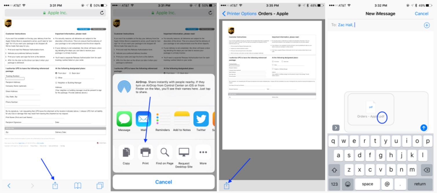 3D Touch stampa PDF