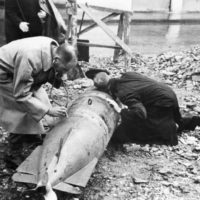 A_bomb_disposal_party_working_on_an_enemy_weapon_dropped_near_Algiers,_November_1942._A13089