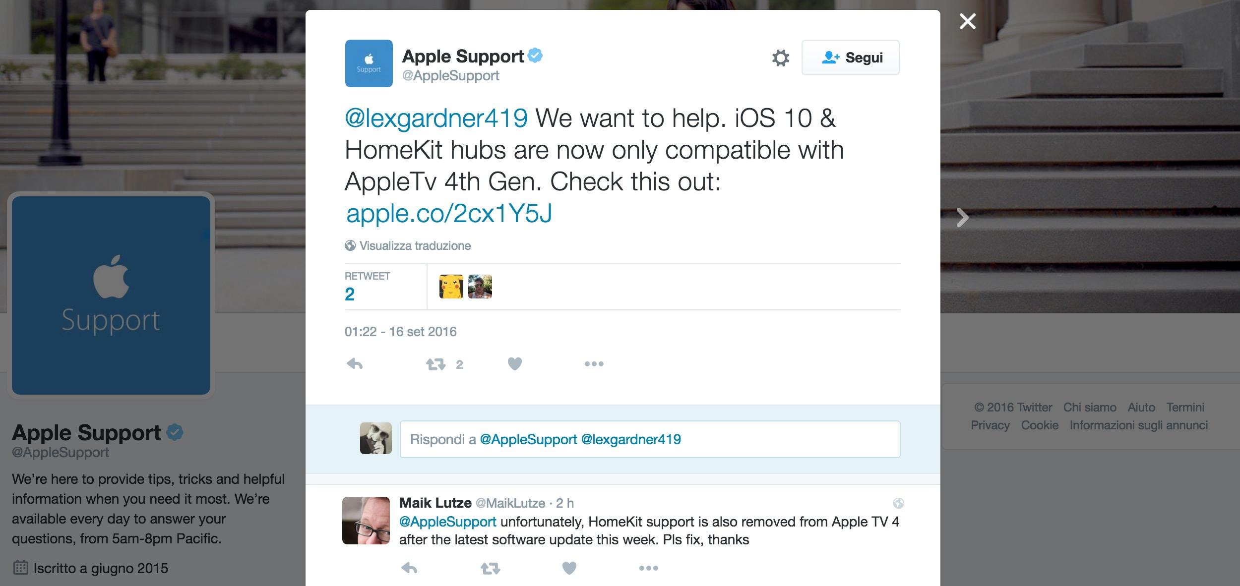 HomeKit su Apple TV 3