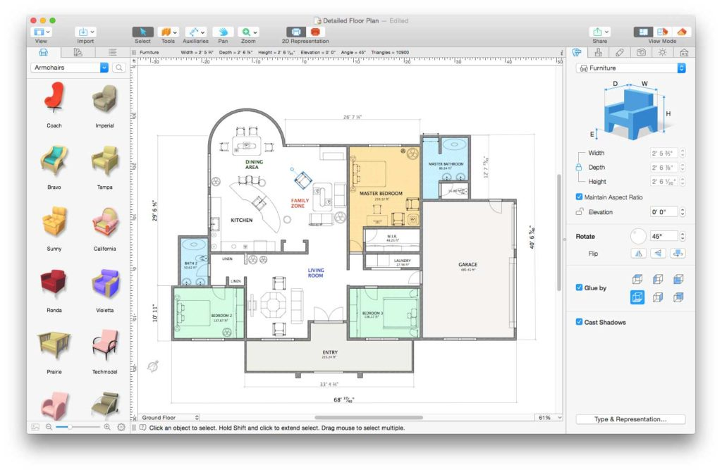 Live home 3d il software per arredo di interni e piantine for Design di mobili cad