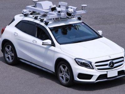 Auto di Mitsubishi con integrato sistema per il rilevamento del mapping 3D
