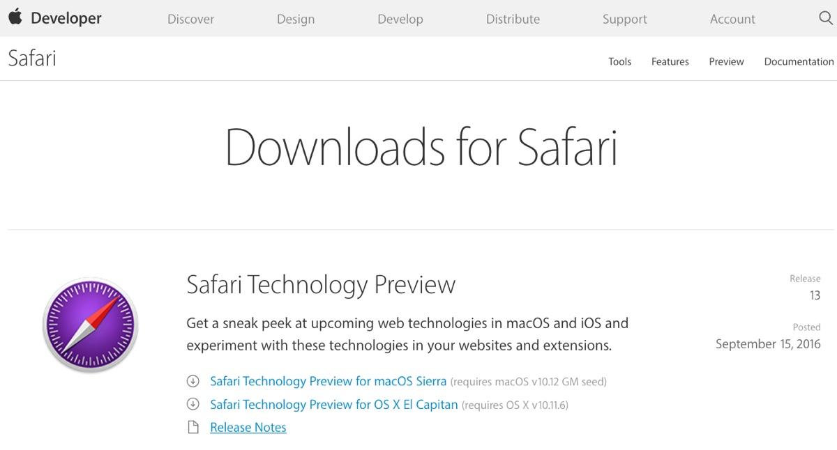 Safari Technology Preview 13