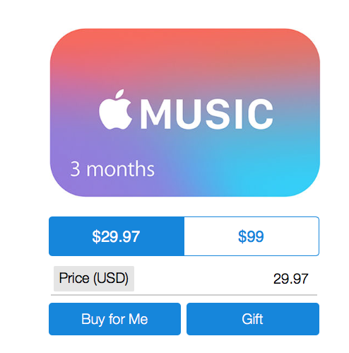Abbonamento annuali Apple Music
