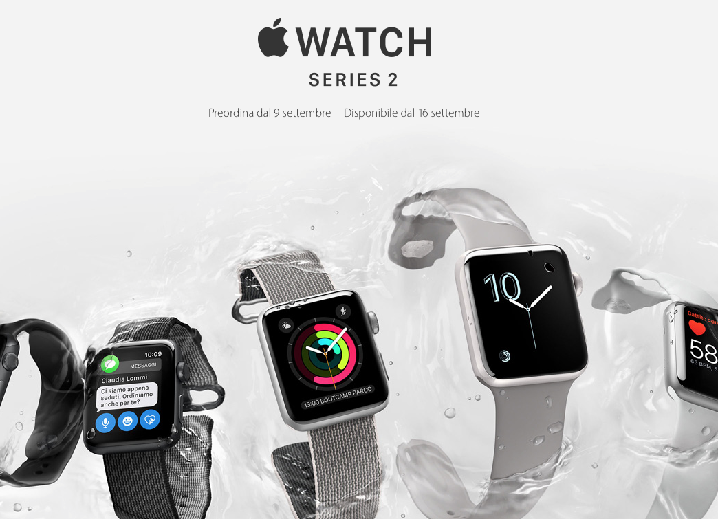 Apple Watch Series 2 pre ordini dal 9: prezzo da 439 euro