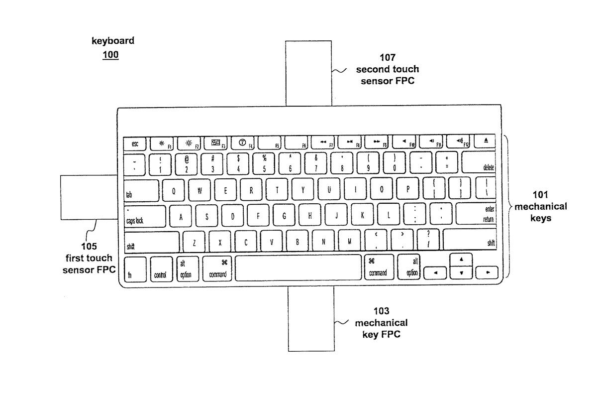 brevetto apple tastiera 1