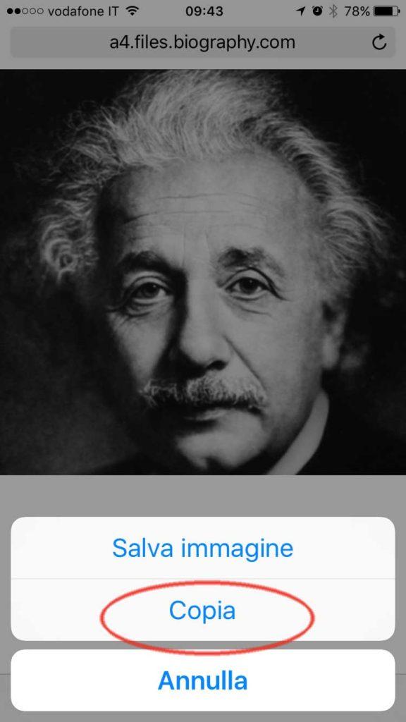 Esempio Copia in iOS